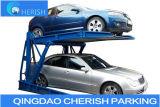 Het overhellende Systeem van het Parkeren van de Auto door Dual-Cylinder Lifting Systeem