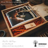 Hongdao 사진 전시 나무 상자