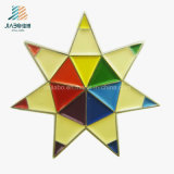Divisas del Pin de metal de la dimensión de una variable de la estrella de la pintura del esmalte del precio de fábrica de la alta calidad
