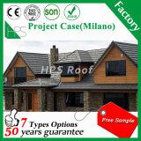 Tuile en acier enduite en métal de pierre de couleur de tuile de toit de pierre colorée bon marché de l'Afrique meilleure