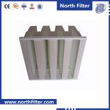 Компактный ячейковый фильтр крена v с миниыми средствами PP Pleat F8