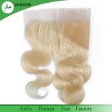De qualité de face de la taille 613 cheveu péruvien de Vierge 13X4 de lacet de cheveu blond