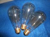 ampoule St64 2W 4W 6W 60W 120V 230V/St64 230V 60W d'Edison d'ampoule de filament de 1800k 2200k 2700k E26 E27 Dimmable DEL