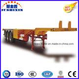 세 배 차축 거위 목 모양의 관을%s 가진 골격 콘테이너 또는 반 공용품 트럭 트레일러