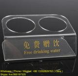 Support potable personnalisé d'étalage de cadeau acrylique clair