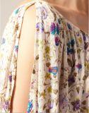 parte superior da menina feita sob encomenda da venda por atacado da forma da tela da impressão 100%Viscose