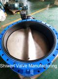 변속기를 가진 연성이 있는 철 Qt450 두 배 플랜지 나비 벨브