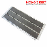 Modular Inclined Conveyor Belt com Grid Top