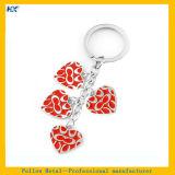 Esmalte duro Keychain do projeto vermelho do coração