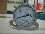 Ybf100bd 100mm 4インチの3つの穴のフランジが付いている完全なステンレス鋼の圧力計の圧力計