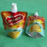 Bolso de pie de la bolsa del animal doméstico/Pet/PE con el canalón para Shampoo& Bodywash