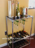 Mini Adjustable Chrome Flat Wine Rack for Home (WR603590A3R)