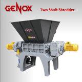 Shredder do metal/pneu/plástico/o de madeira da capacidade elevada dobro/dois eixos