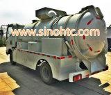 5-10 de aguas residuales camión metros cúbicos, la succión del vacío del camión, camión de succión de aguas residuales
