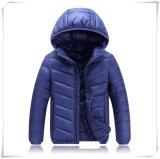 Crianças para baixo revestimento cinzento preto, roupa do inverno para as crianças 601 do menino