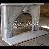 Camino bianco Mfp-1002 di Carrara del camino del camino di pietra del camino di marmo del granito