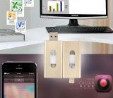 A linha dobro deslizante nova do USB OTG do telefone para triplicar-se do telefone da tabuleta de Apple