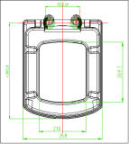 Duroplástico material respetuoso del medio ambiente Fácil de lanzamiento de asiento de inodoro