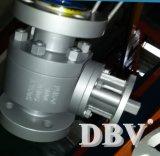 Geschmiedeter Stahl A105 flanschte Gleitbetriebs-Kugelventil-niedriger Preis
