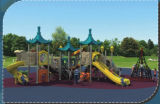 Equipamento plástico HD-039A da corrediça dos miúdos ao ar livre comerciais dos campo de jogos