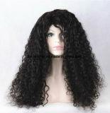 Do cabelo humano de Remy da alta qualidade peruca cheia do laço