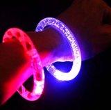 Os braceletes de piscamento do diodo emissor de luz com logotipo imprimiram (4019)