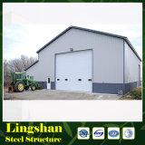 Almacén de almacenaje prefabricado hermoso y barato prefabricado de la larga vida del marco de acero