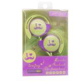 Trasduttori auricolari dell'amo dell'orecchio del MP3/MP4 del giocatore di musica