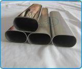 El plano de acero inoxidable echó a un lado los tubos ovales (tubos) para las barandillas