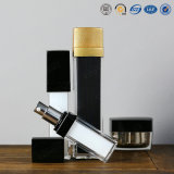 estetica di lusso quadrata di plastica di qualità superiore di cura di pelle di 15ml 30ml 50ml 100ml che impacca bottiglia senz'aria