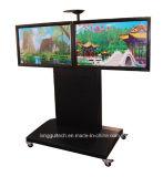 Doppelbildschirm Fernsehapparat-Karre