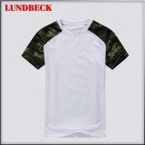 Maglietta del cotone di estate per i vestiti del Rotondo-Collo degli uomini