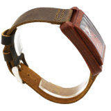 Relógio de madeira da forma com impermeável