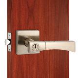 Safe tubolare Door Lock con Lever Handles in Satin Nickel