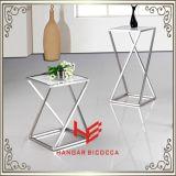 Seitliche Tisch- für Systemkonsoletee-Standplatz-Edelstahl-Möbel-Ausgangsmöbel-Hotel-Möbel-moderner Möbel-Tisch-Kaffeetisch-Tee-Tisch des Tisch-(RS162401)