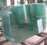 円形のテラス表のガラス上の置換