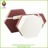 Cadre spécial d'hexagone de cadeau de papier d'emballage de modèle avec la bande