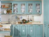 Spezielle Farben-natürlicher festes Holz-Qualitäts-Küche-Schrank