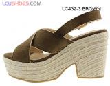 Zapatos de las sandalias de la plataforma del alto talón de las señoras de las sandalias de la cuña de la mujer nuevos