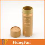 Het bruine Document van het Karton van Kraftpapier om Vakje van de Gift van de Cilinder het Kosmetische Verpakkende