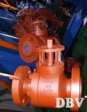 Le cachetage modifié en métal a bridé robinet à tournant sphérique monté par tourillon