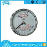 thermometer van de Maat van de Druk van de Aansluting van het Geval van het Staal van 60mm de Zwarte Achter