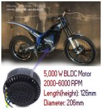 moteur électrique de motocyclette du nécessaire 48V /72V /96V BLDC de conversion de la moto 5kw