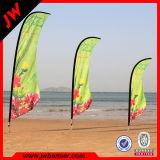 Bandera publicitaria de encargo del indicador de playa de la lágrima