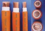 주황색 색깔 용접 케이블