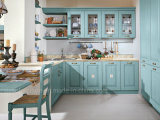 Module de cuisine normal de qualité en bois solide de couleur spéciale