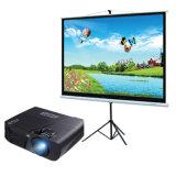 Preiswerter Fabrik-Preis des Stativ-Projektor-Bildschirm-Projektions-Bildschirms