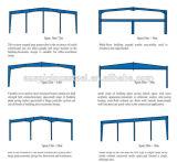 Construção de aço Prefab da grande extensão para o armazém (ZY423)