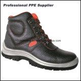 Zapato de trabajo barato de la seguridad de la alta punta de acero del tobillo