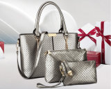 2016 bolsas elegantes de venda superiores do plutônio da venda por atacado da mulher ajustaram 3PCS em 1
